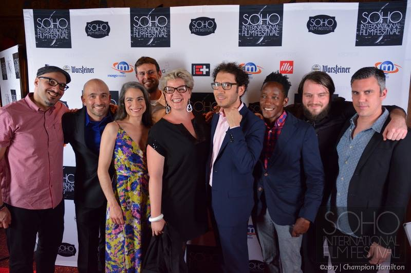 (Left to Right)  Bo Mehrad (Editor), Ryan McDonough (Actor/Writer), Jennifer Peralta-Ajemian (Casting), Matt Suter (Director of Photography), Darcy Trunzo (Producer), Sean Gannet (Director), Jeremiah Stuart (Art), Brenden Hubbard (Co-Producer), Darren Morze (Composer/Sound Design)