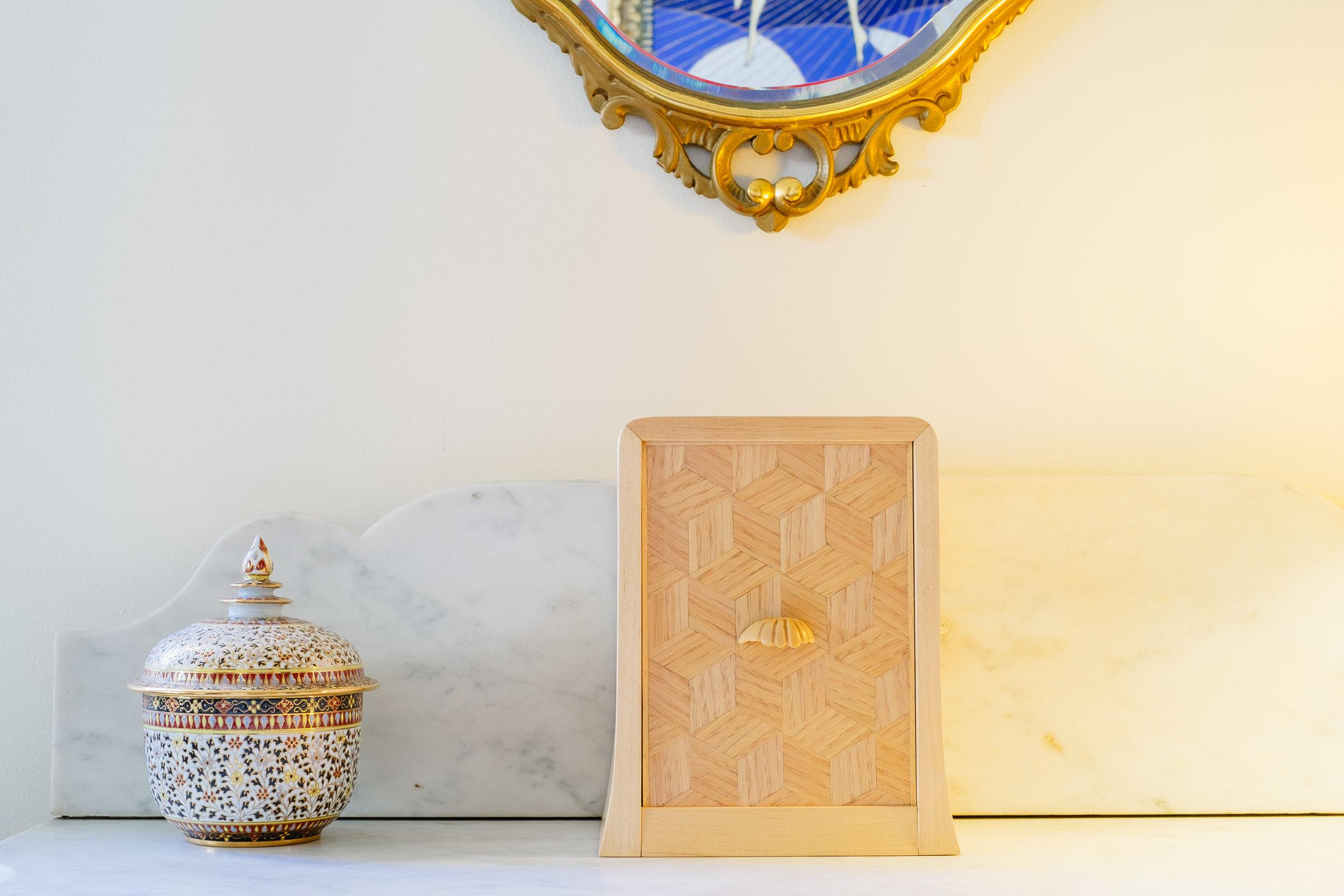 Japanese parquetry on keepsake box
