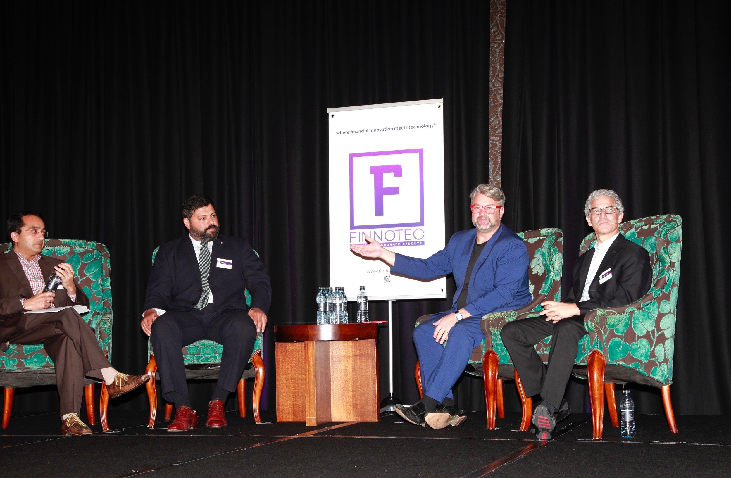 Panel Discussion:Binu Paul, Sebastian Olivera, Peter Dingle, Steve Sereboff (left to right)
