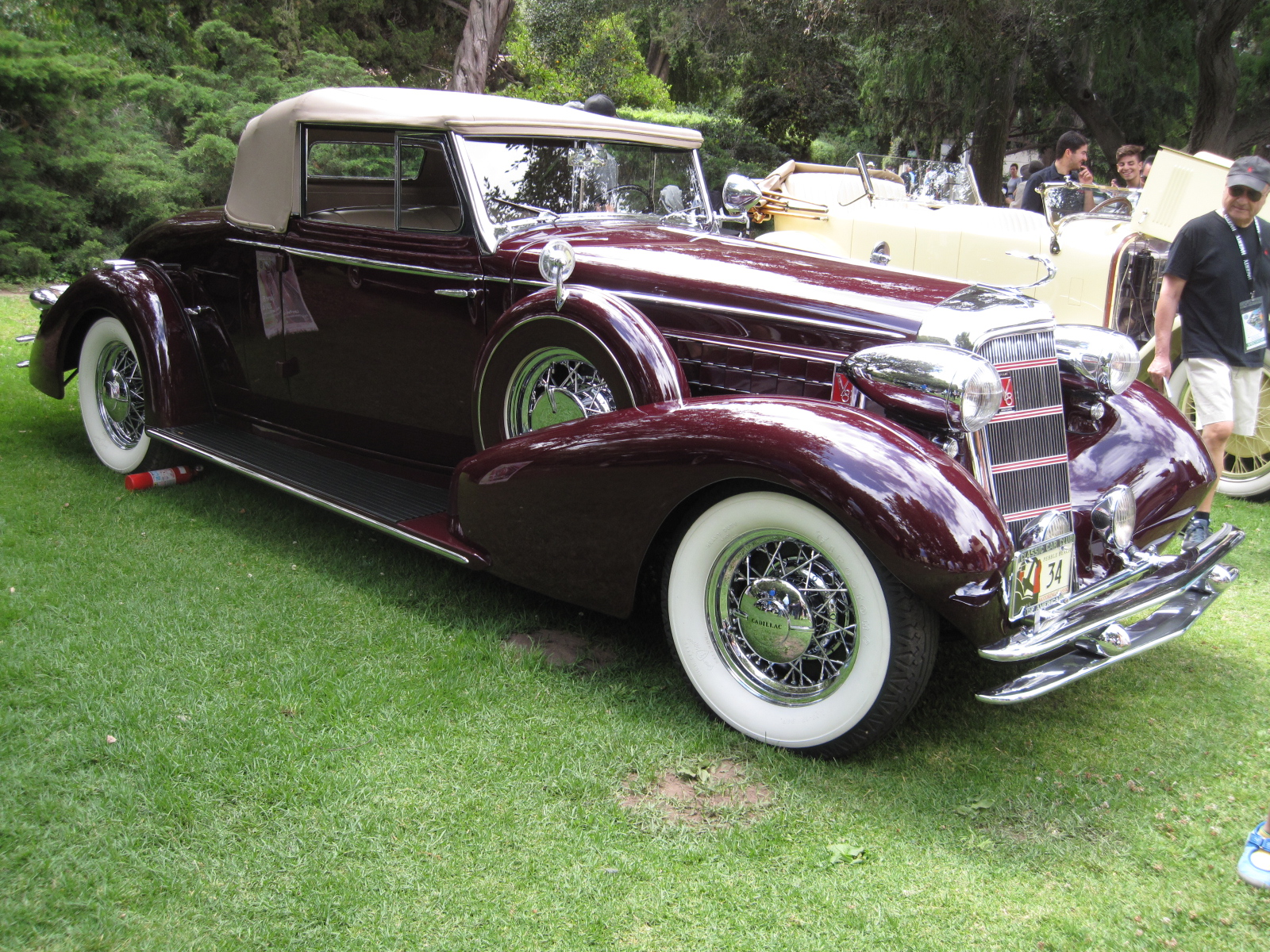 1934 Cadillac 355D Convertible Coupe Larry Bloomer.JPG