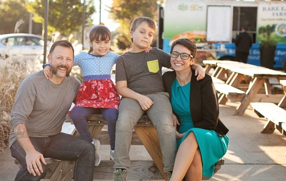 Nicole, Les, Evan, and Liza Stewart - I am a working mom and local philanthropist, who's married to a small business owner, and I'm deeply invested in how Raleigh grows.