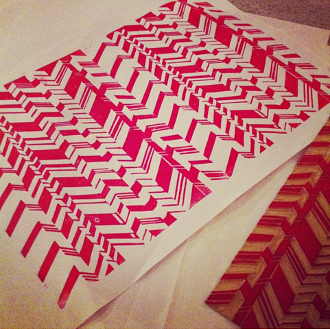 Another example of wrapping paper printing