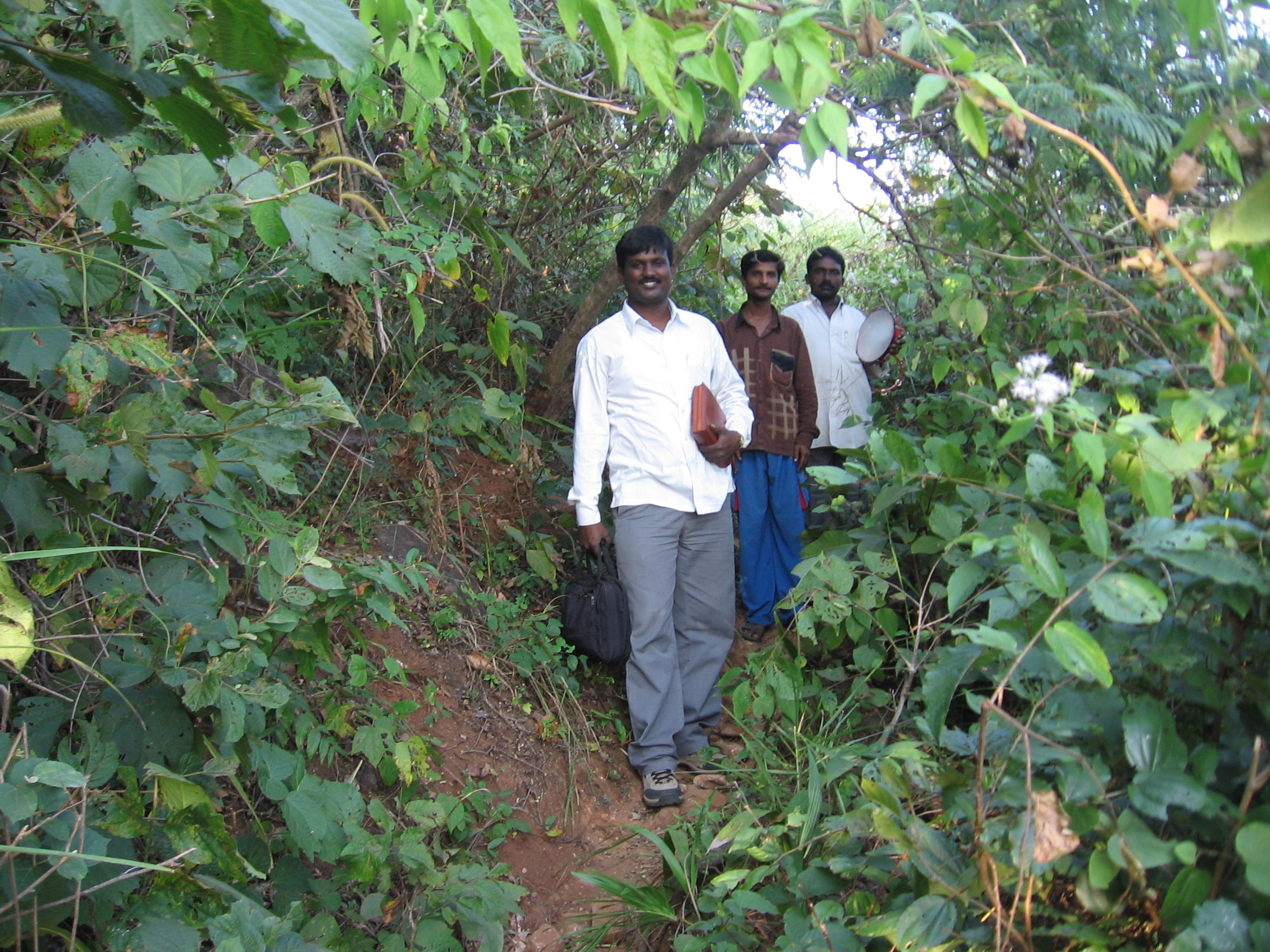 Sudhir traveling to the mountain region to visit unreached tribal people