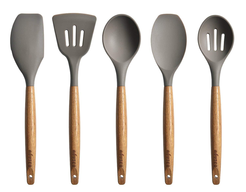 Miusco 5 Piece Silicone Cooking Utensil Set (Amazon)