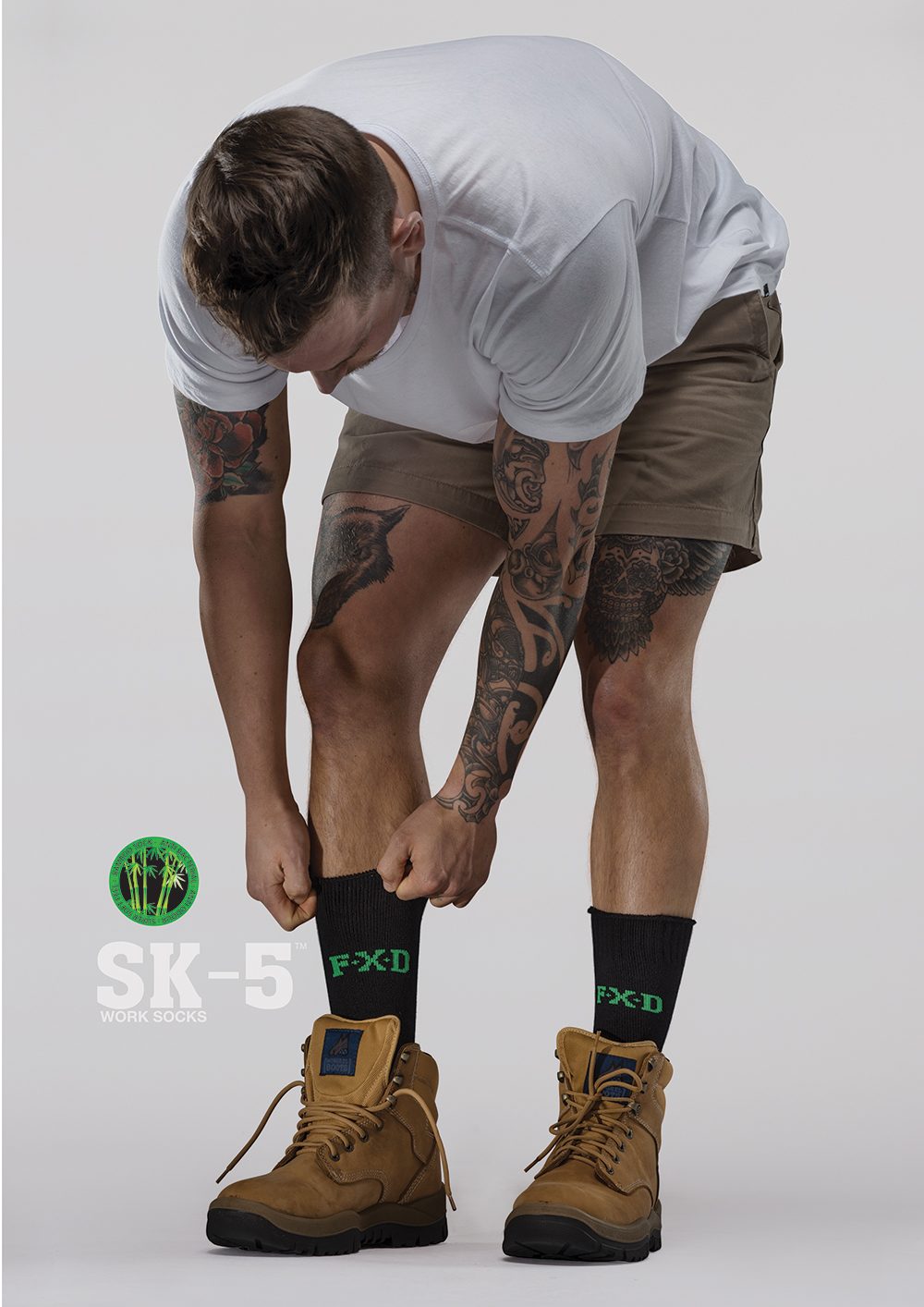 FXD SK-5 Bamboo Work Socks   Features:  - FX71439001 - Natural Bamboo - Anti Odour - Anti Bacterial - Super Soft Feel - Extra Thick Boot Sock