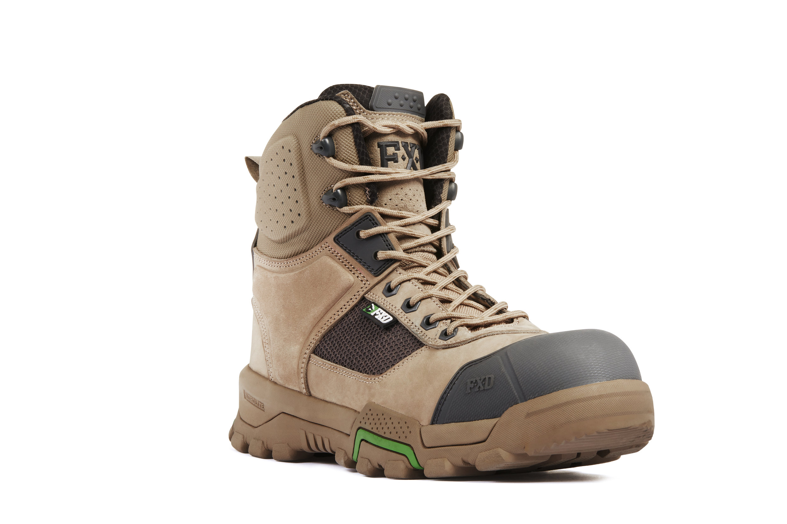 FXD WB-1 work boots (Stone front view)