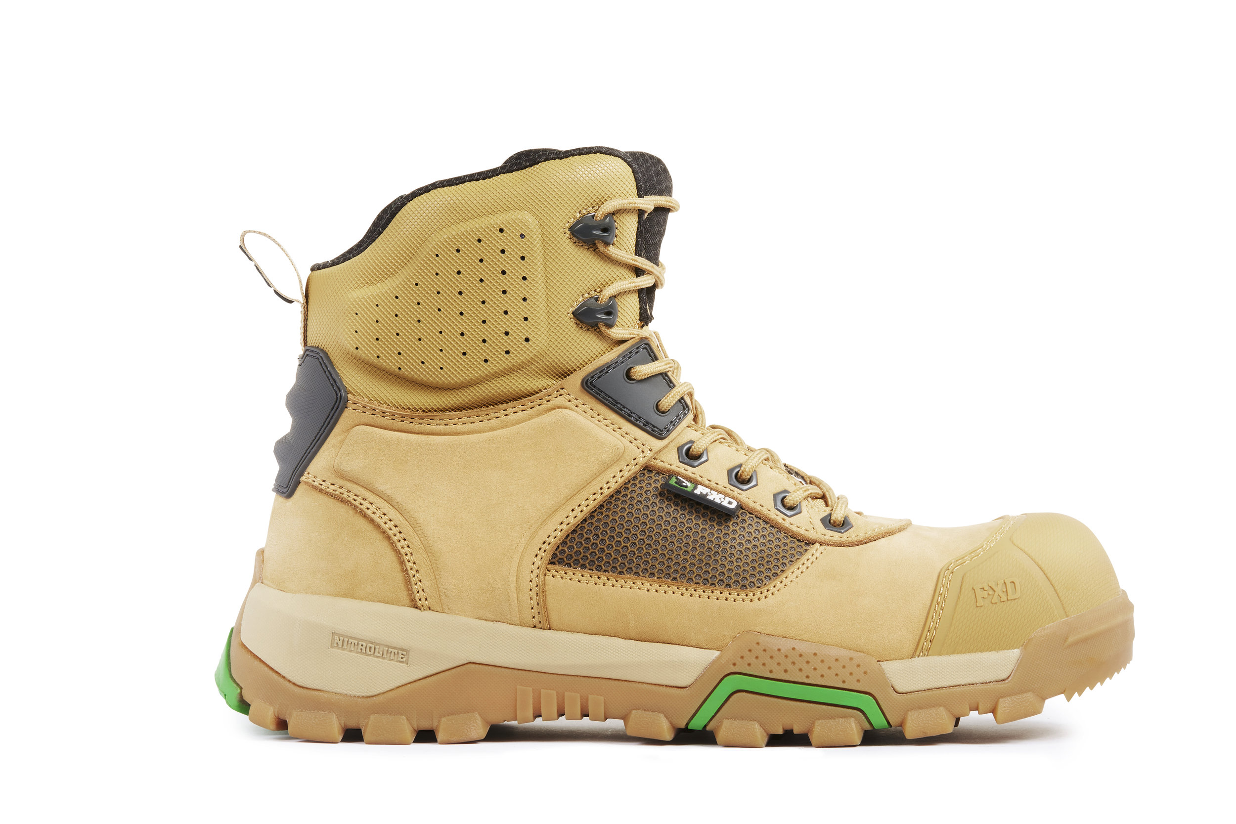 FXD WB-1 work boots (Wheat side view)