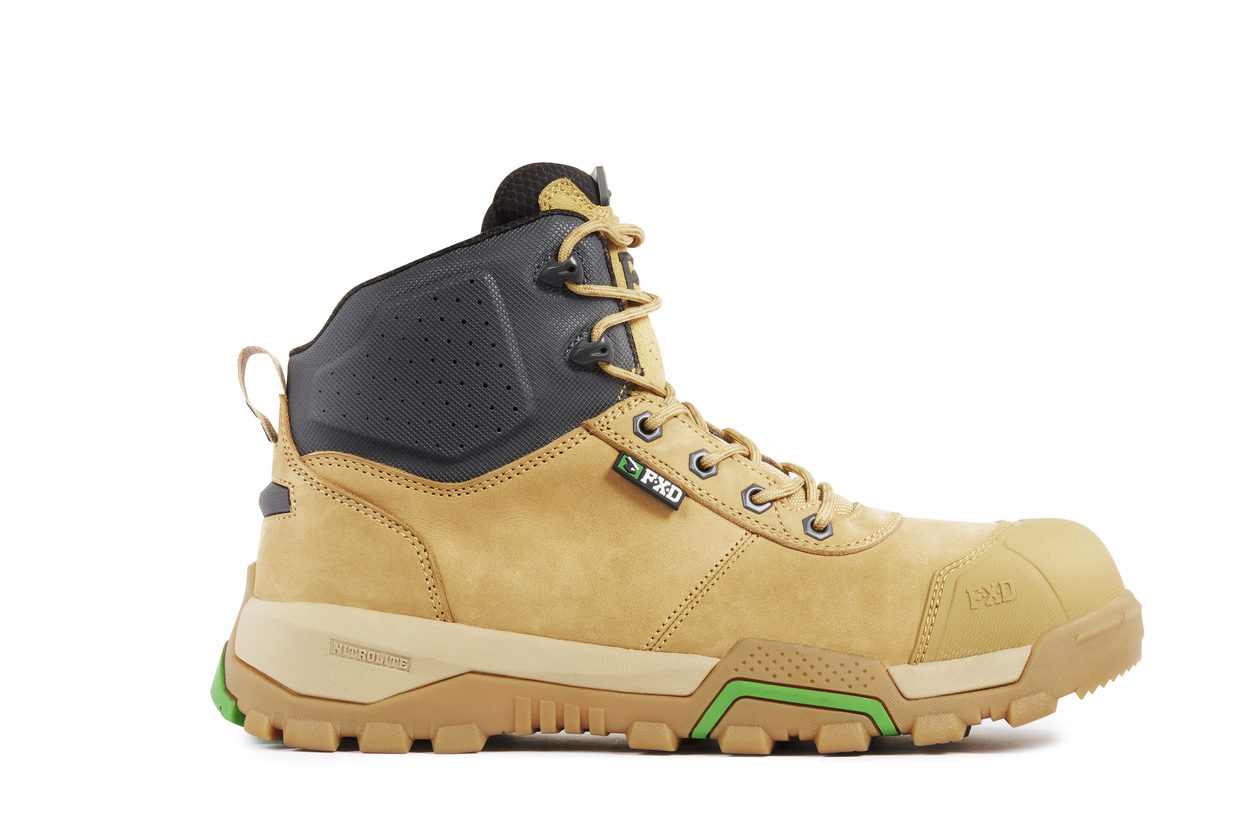FXD WB-2 work boots (Wheat side view)