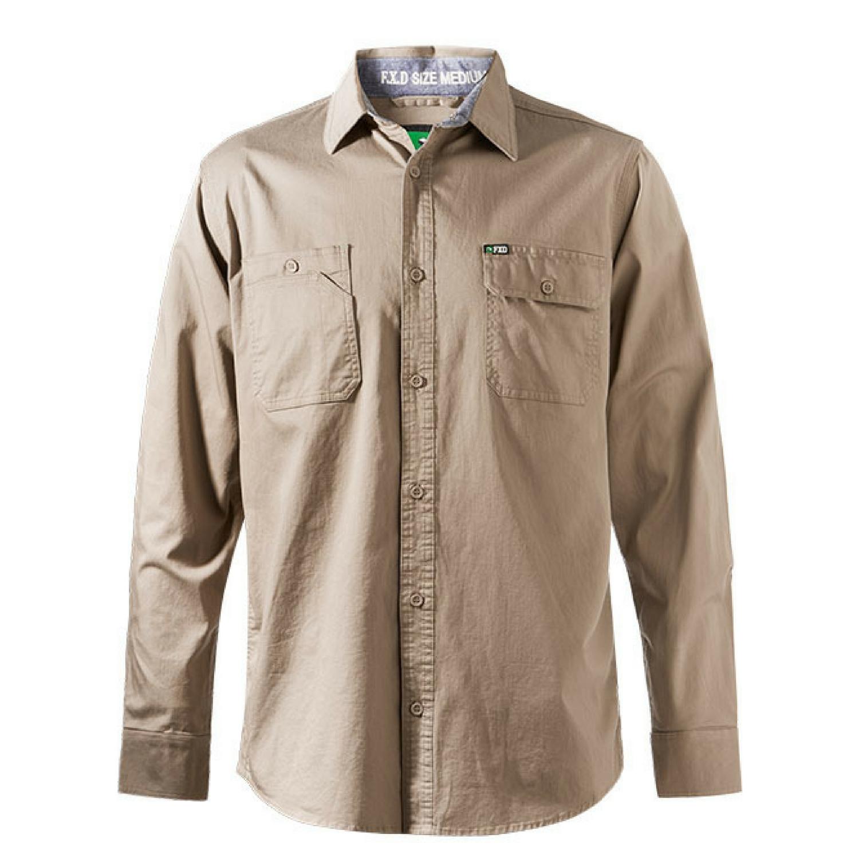 FXD Workwear LSH-1 long sleeve 360 stretch work shirt khaki