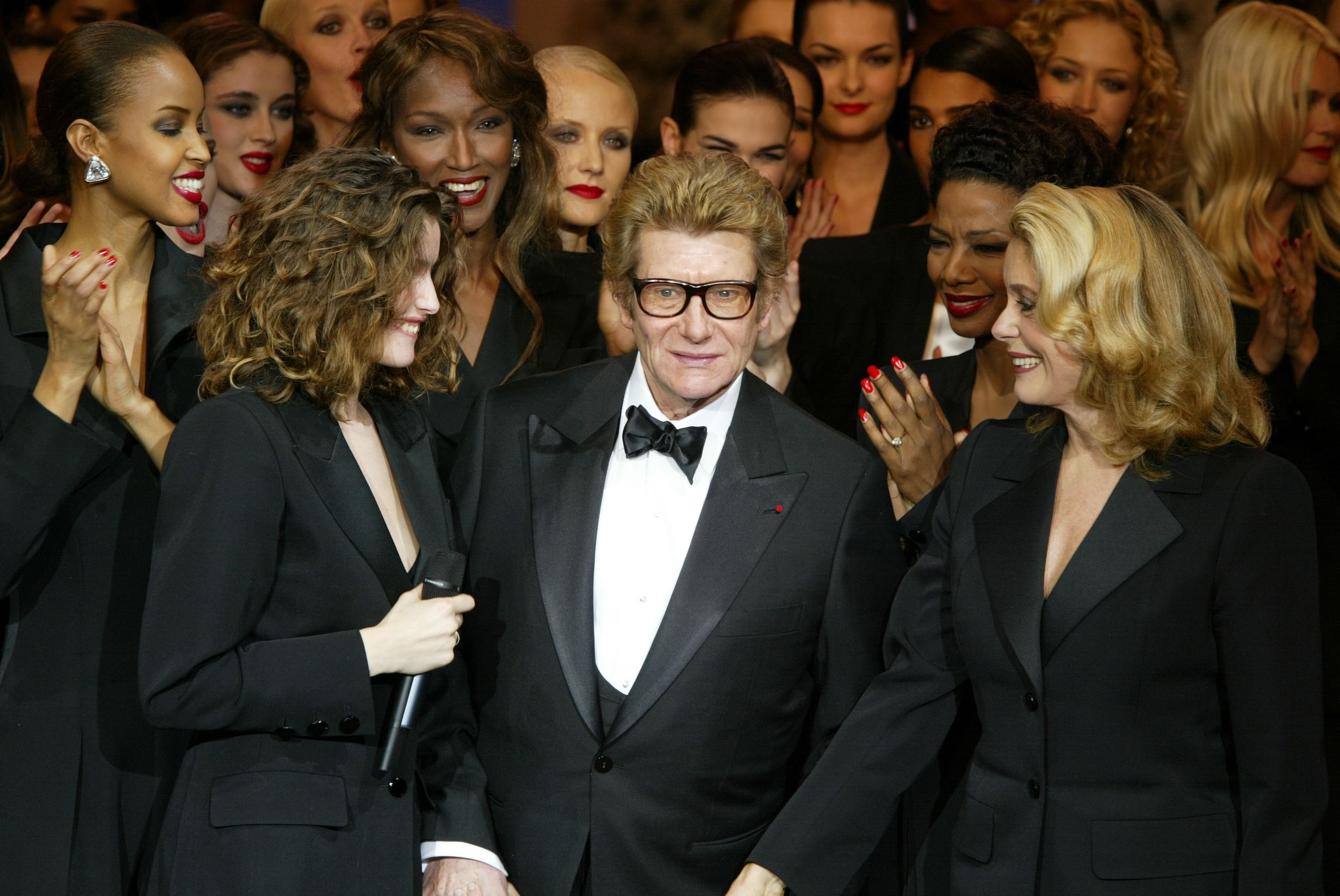 Finale at the Yves Saint Laurent 40th Year Retrospective - Centre Pompidou January 22nd 2002