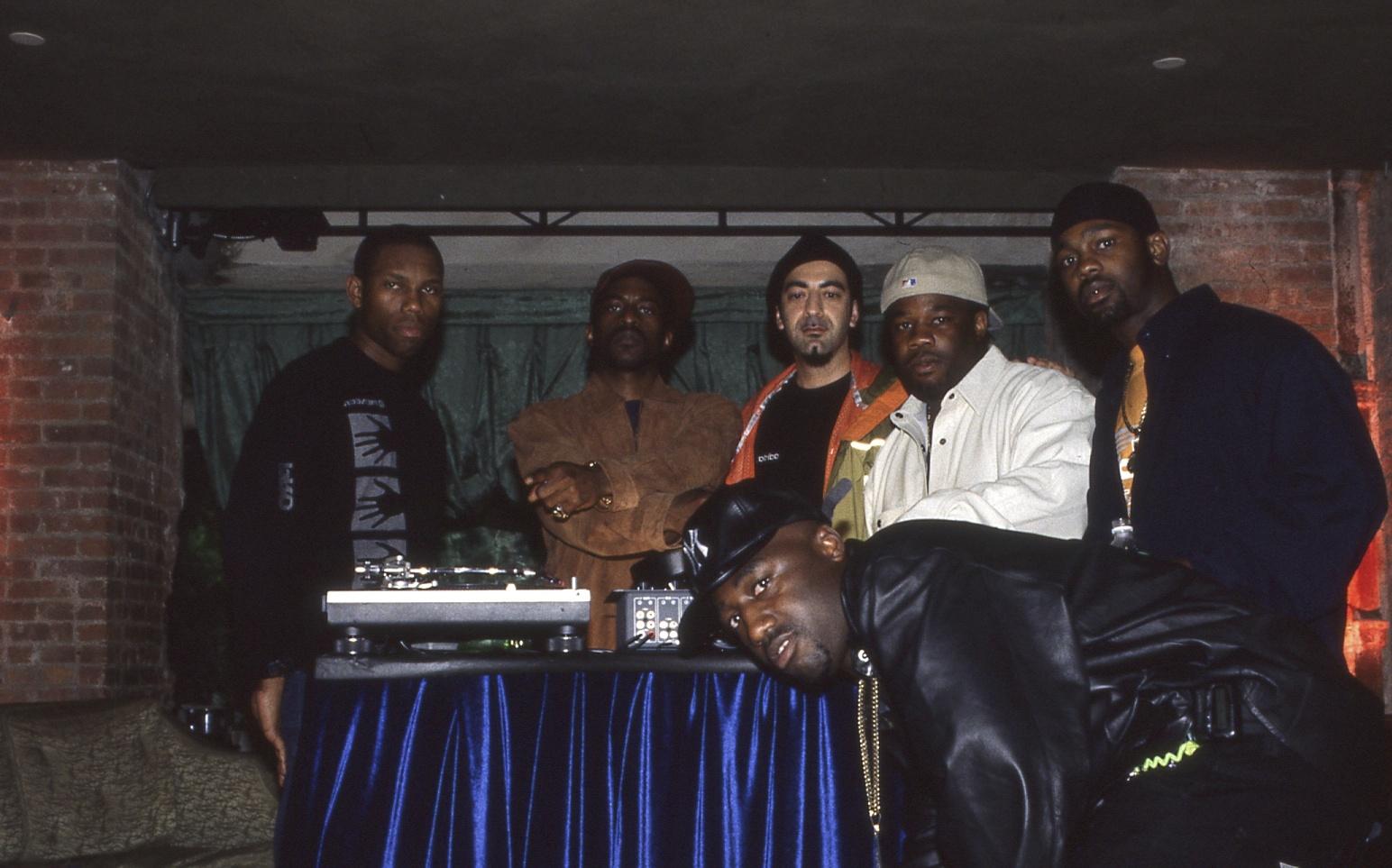 "With Rakim on the video shot of ""Buffalo Gals Back 2 Skool"" - 1998"
