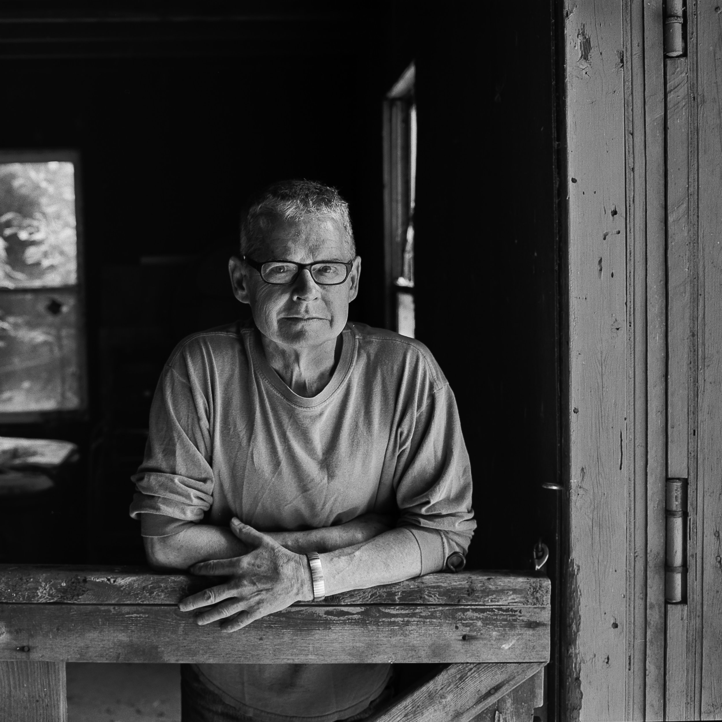 Artist Thomas Joseph in his New Brunswick studio.