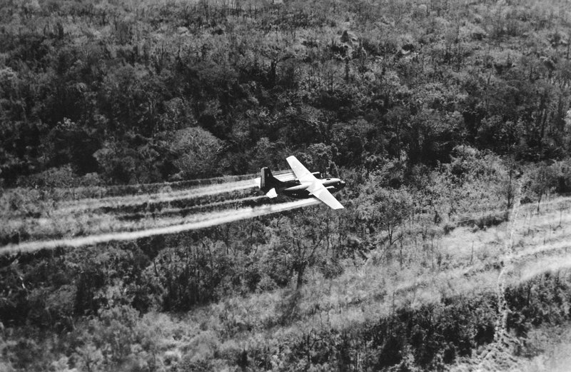 US Air Force Spraying Herbicide over South Vietnam. Agent Orange, one of many herbicides, is now widely known to cause cancer and birth defects. (U.S. Air Force/ AP)