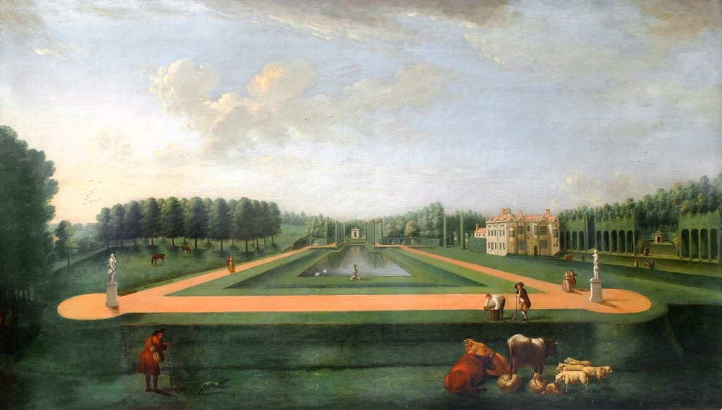 Home lawns were often only owned by societal elite until the Industrial Revolution. Thomas Lee ca. 1738
