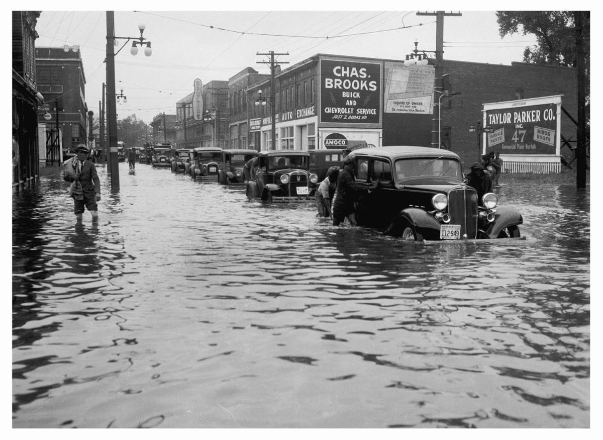 Flooding in Norfolk, Virginia. 1933. | Virginian-pilot