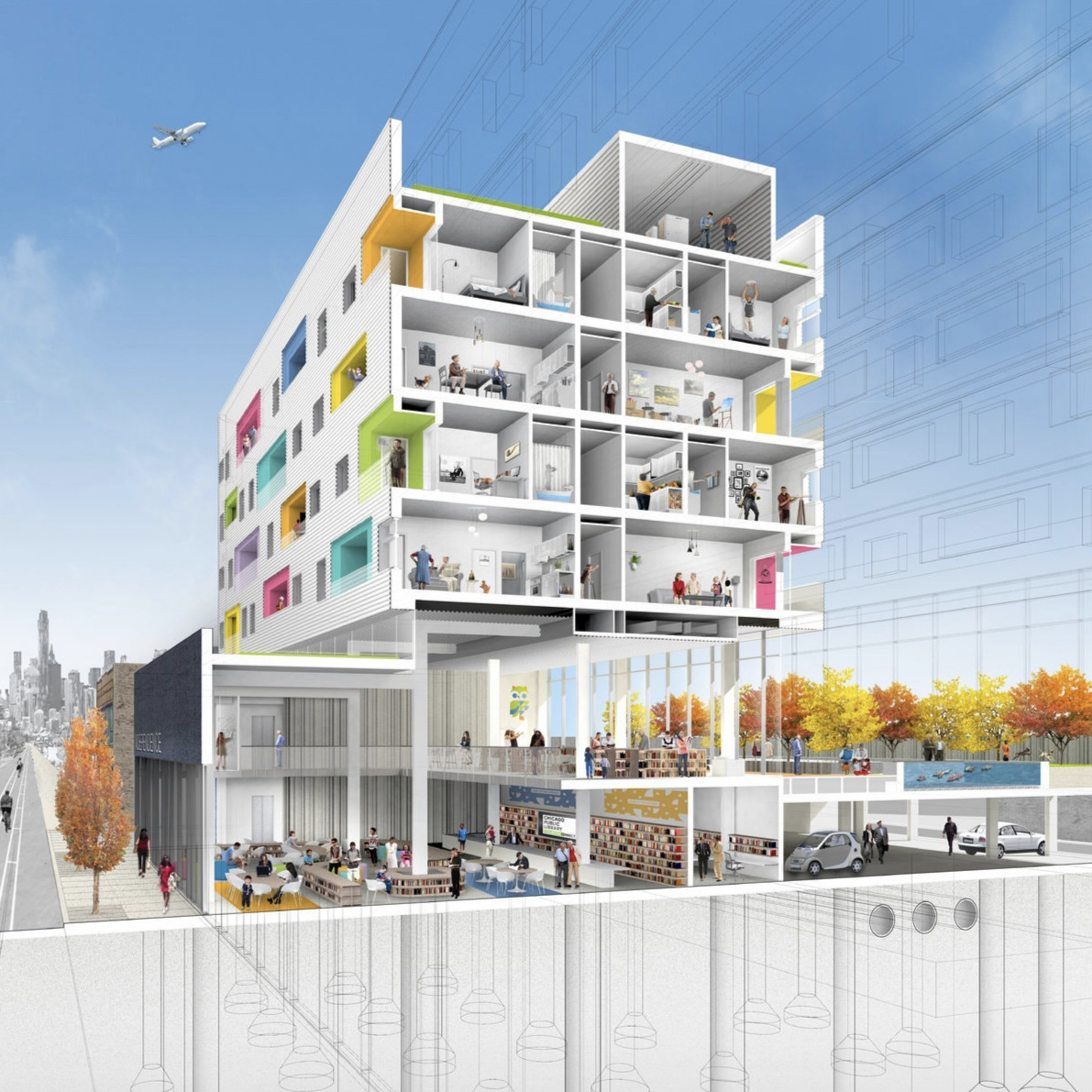 Chicago Builds Public Housing into Libraries. - Healthy neighborhood housing based on books.