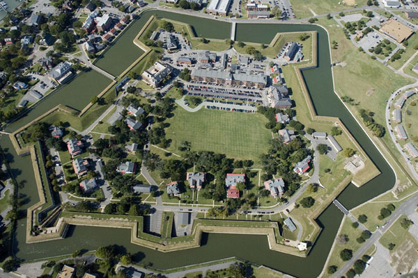 Fort Monroe, Virginia. We lived in Officer's Quarters inside the moat.