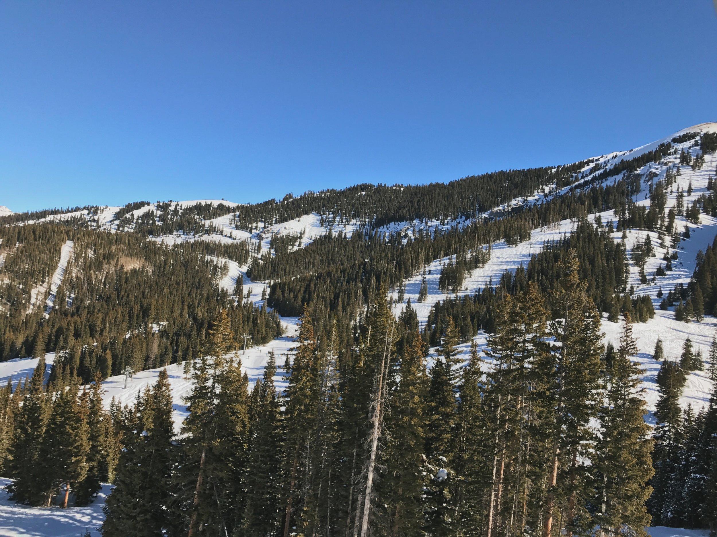 Ski slopes at Telluride CO