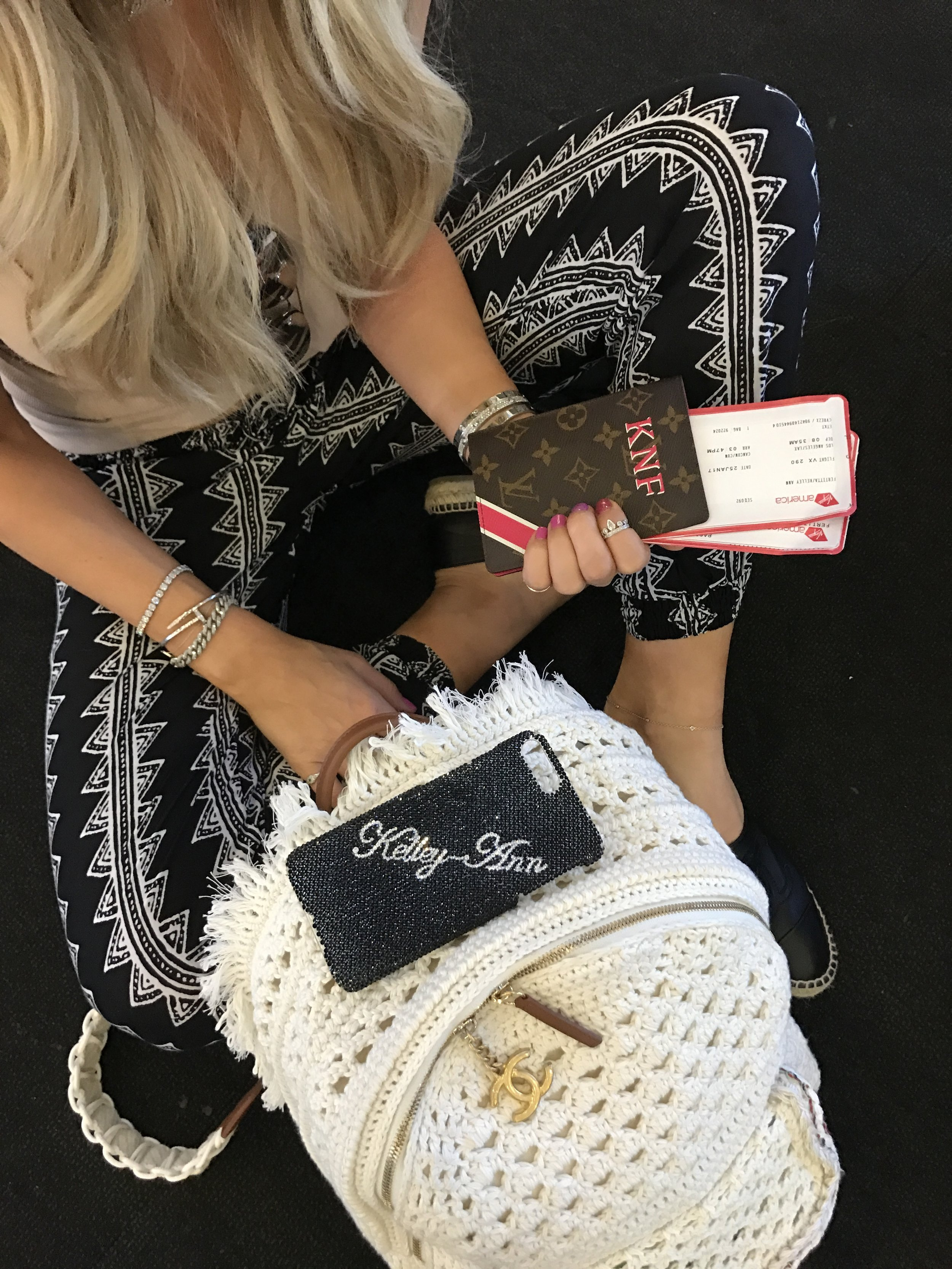 Kelley Ann with LV passport ready to travel
