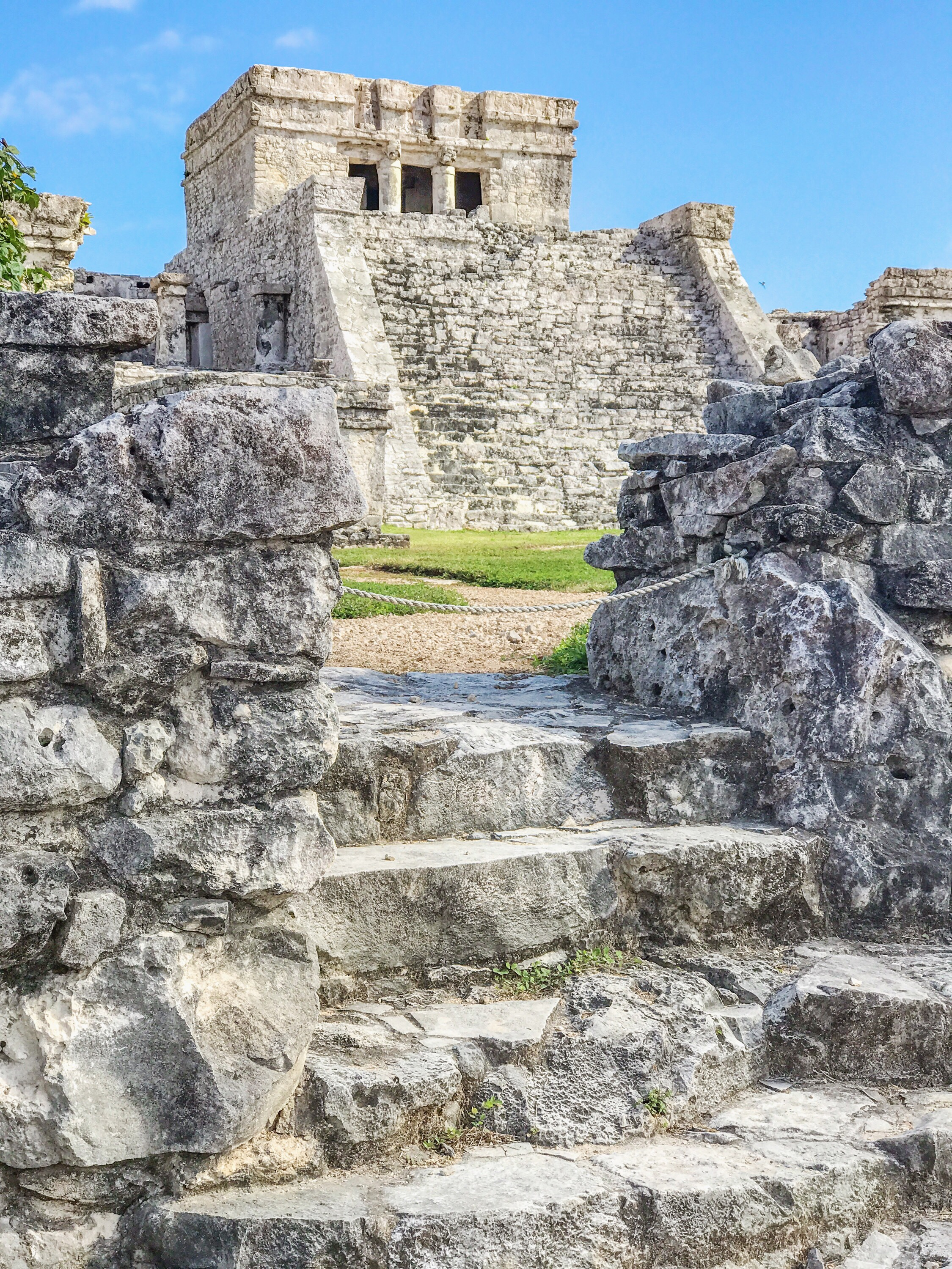 Mayan ruins: Temple of the Wind God near Tulum Mexico