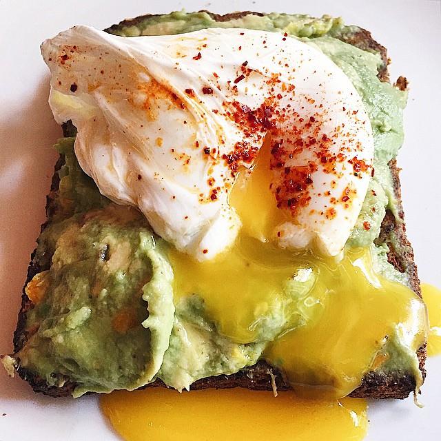 Avacado toast from Cafe Cluny