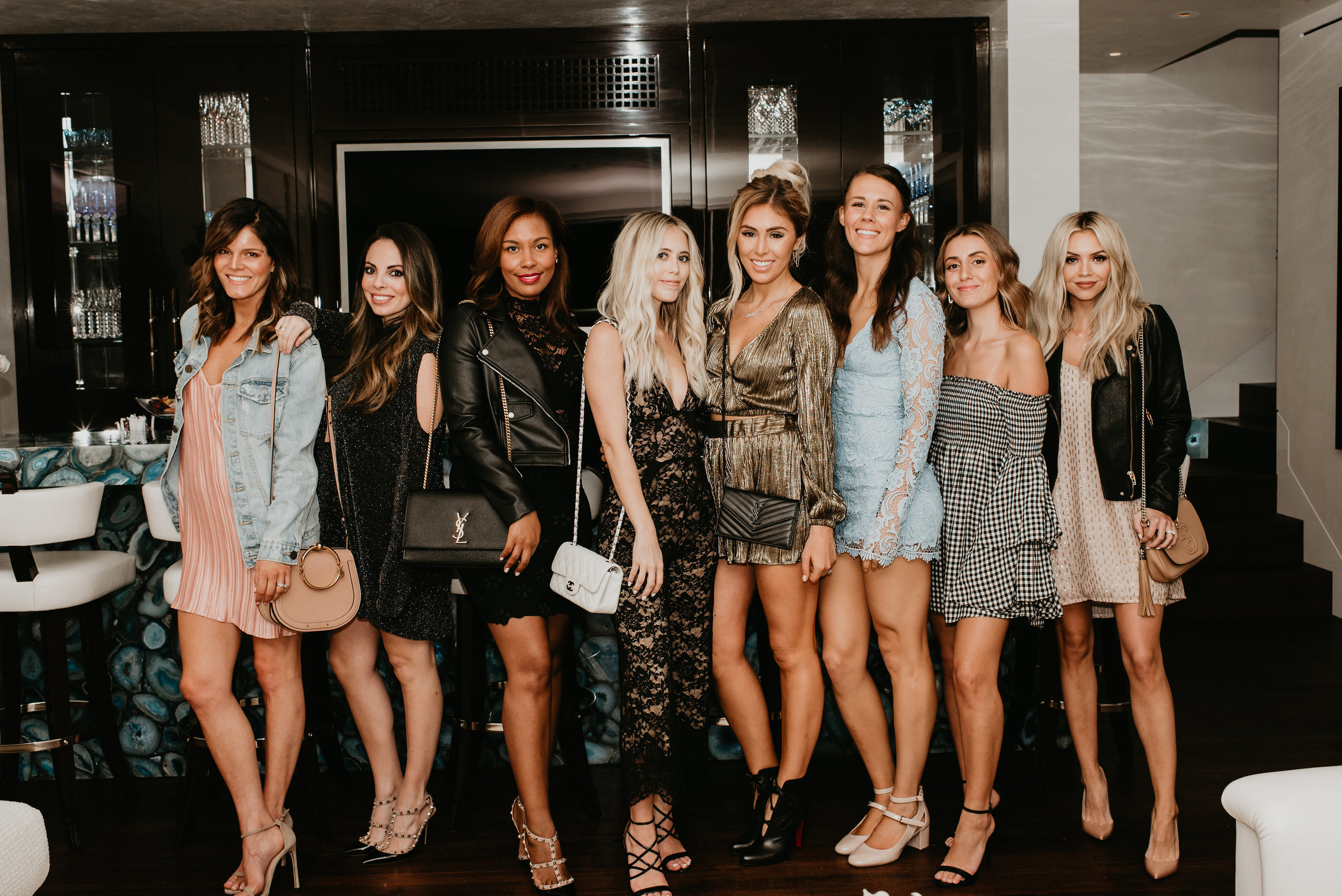 Everyone dressed up for girls night out in Laguna Beach