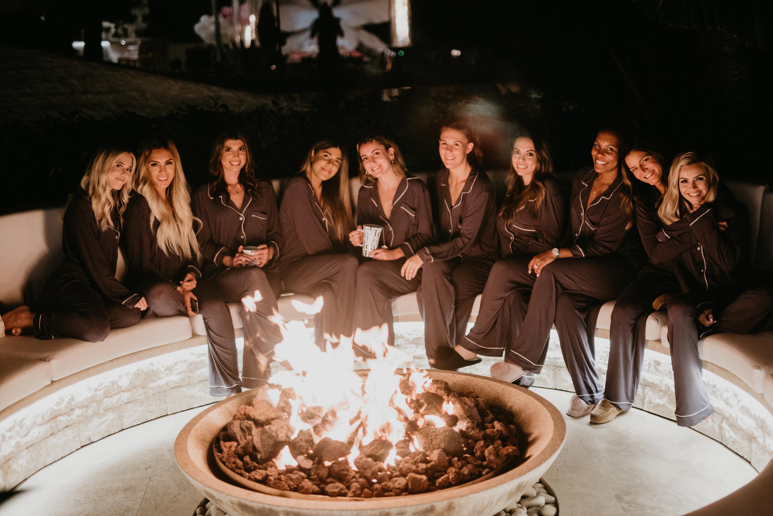 Fireside bonding on Laguna Beach