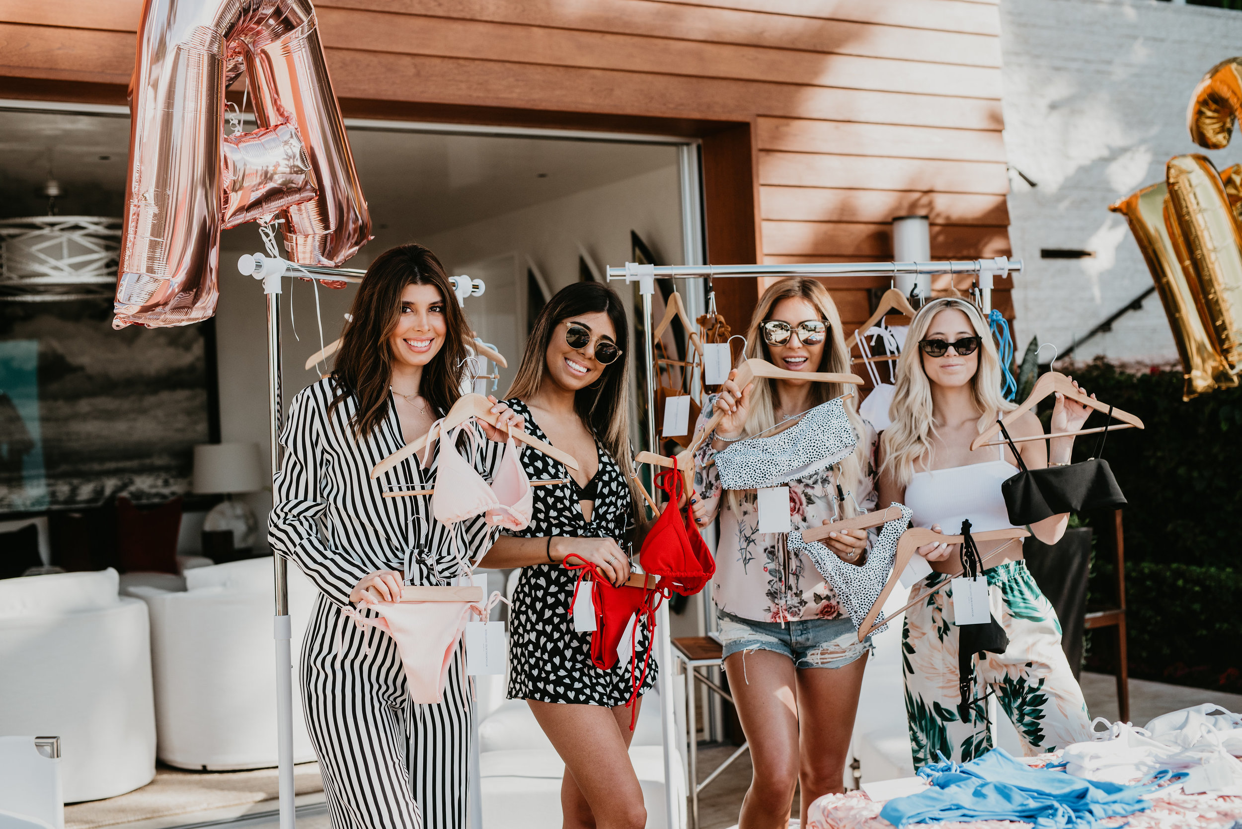 Laguna Beach bikini pop up shop featuring With Love From Swimwear, Shiva, and Lauren