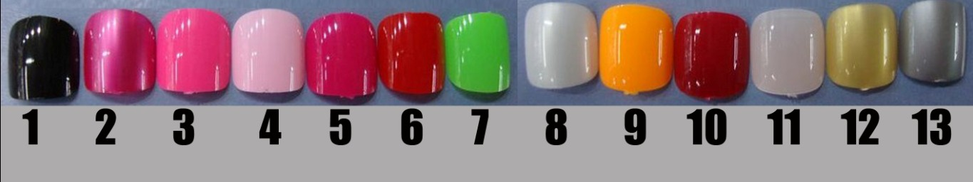 Nail color selection