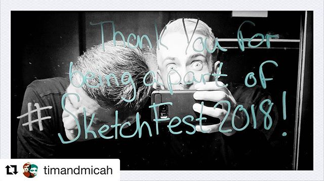 So excited!!! #Repost @timandmicah ・・・ Here we go! #SKETCHFEST2018 @chisketchfest @stage773