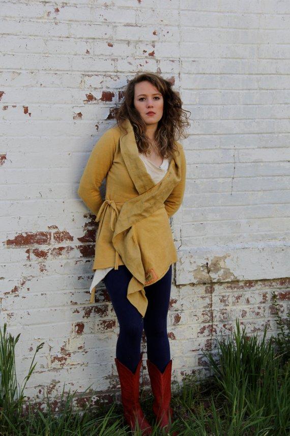 Ahimsa Linen Wrap Jacket