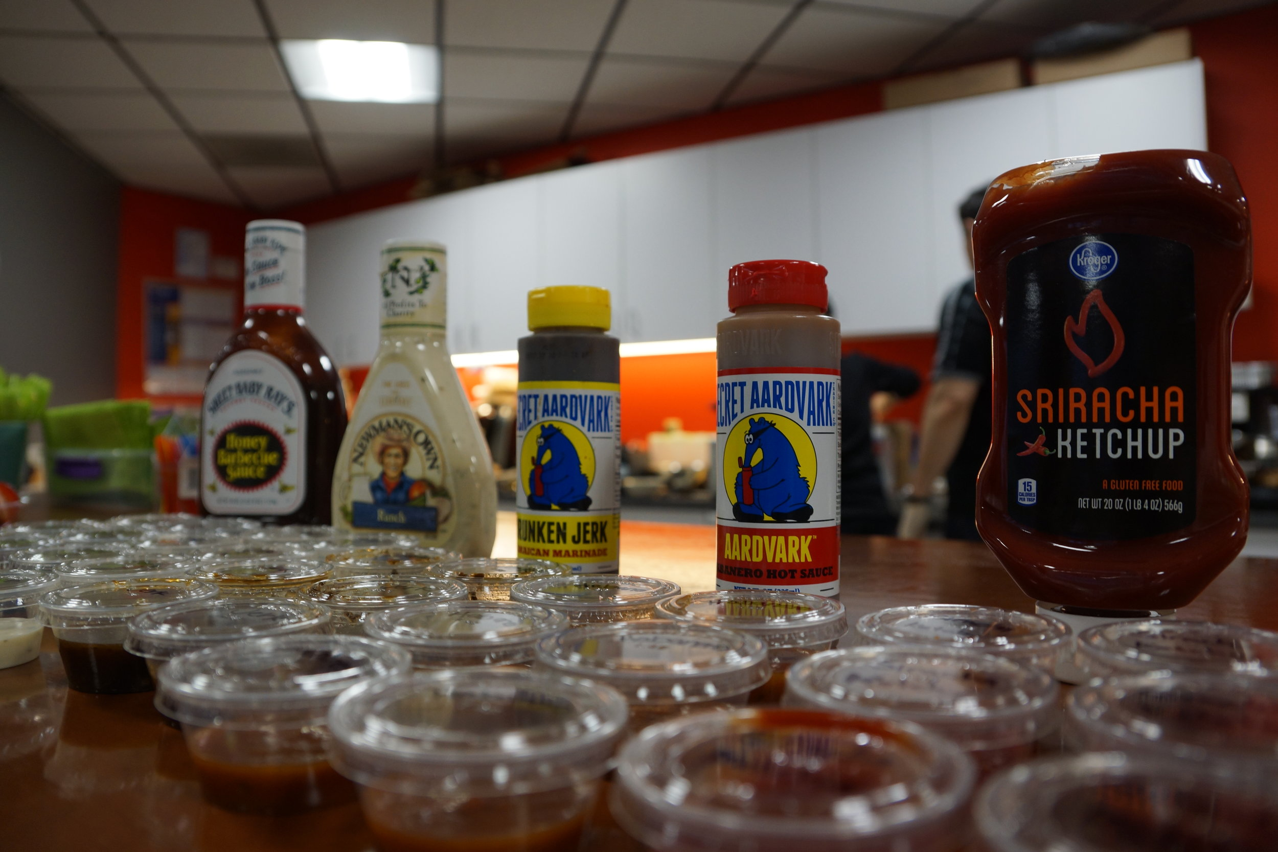 Get Their Attention with a custom French Fries Bar with 8 Different Sauces!