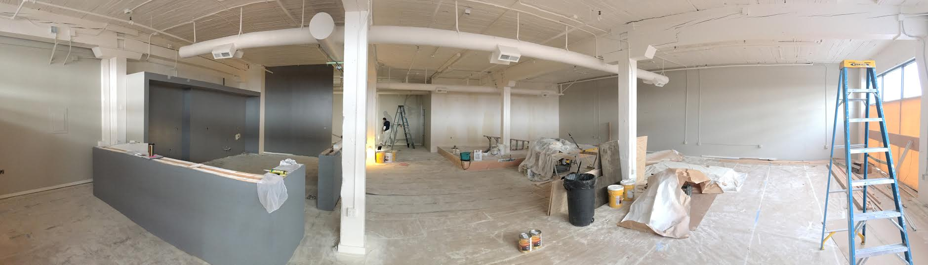 The good people at fully are remodeling this  entire  space, just for my book release party.