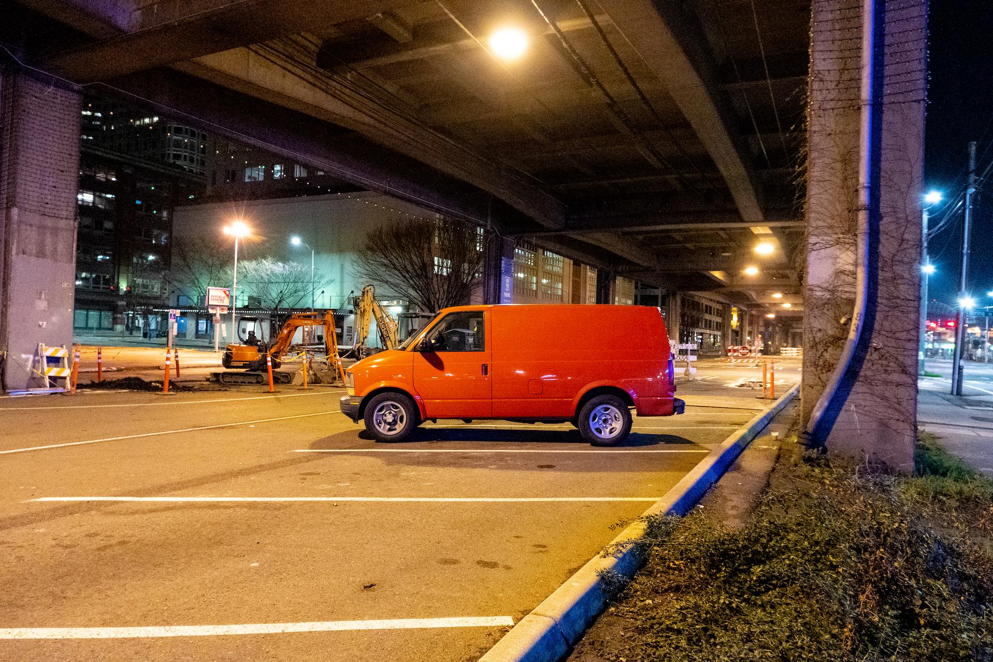 Orange Dodge Van - Nathaniel Barber Blog