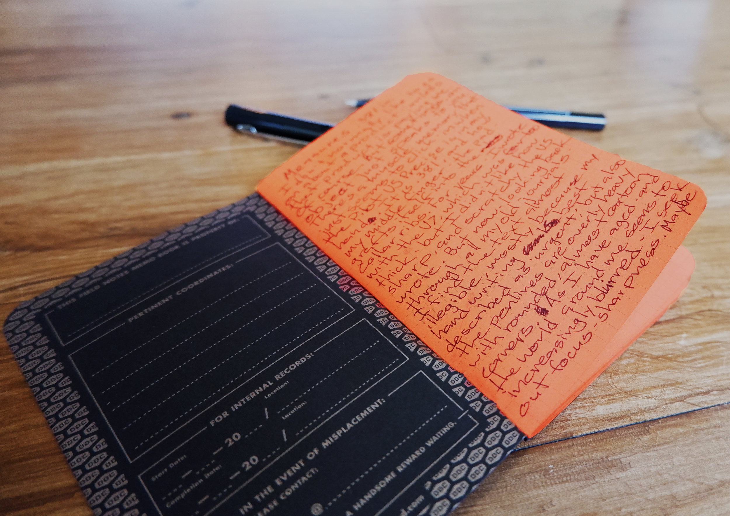 The Pilot V5 Precise and Field notes - Nathaniel Barber Blog