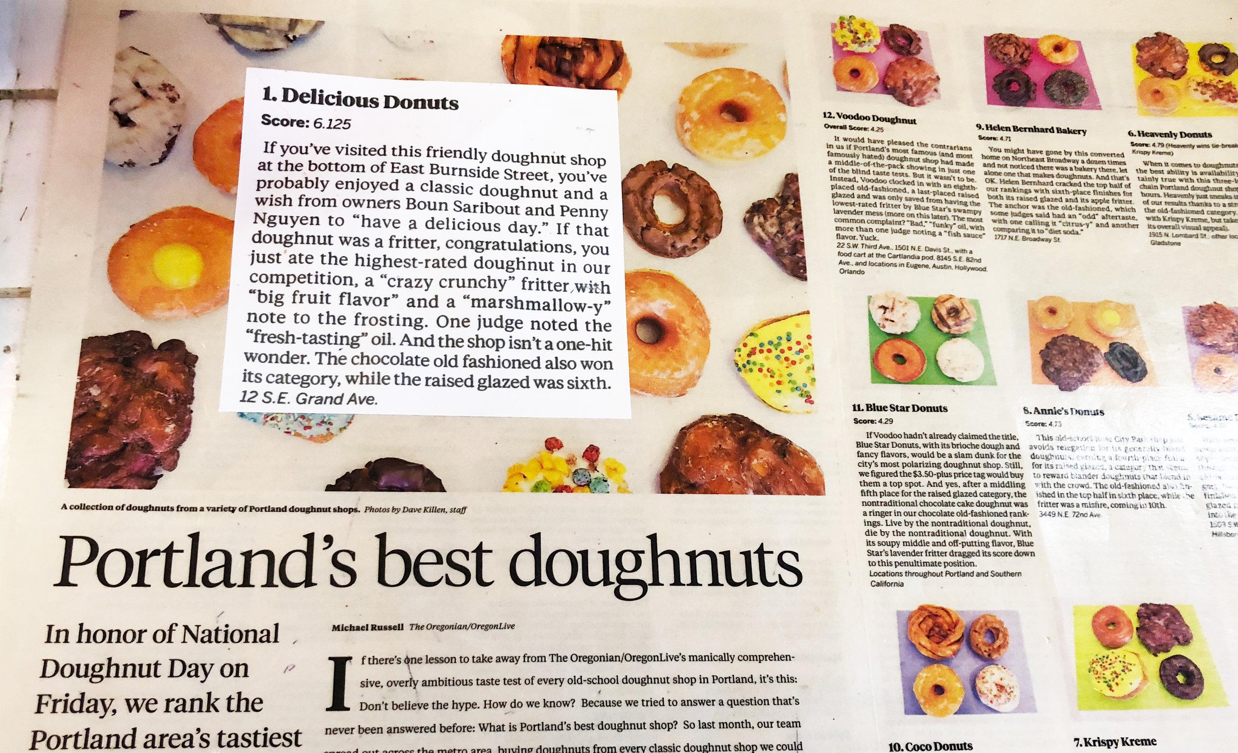 Delicious Donuts - News clipping - Nathaniel Barber Blog