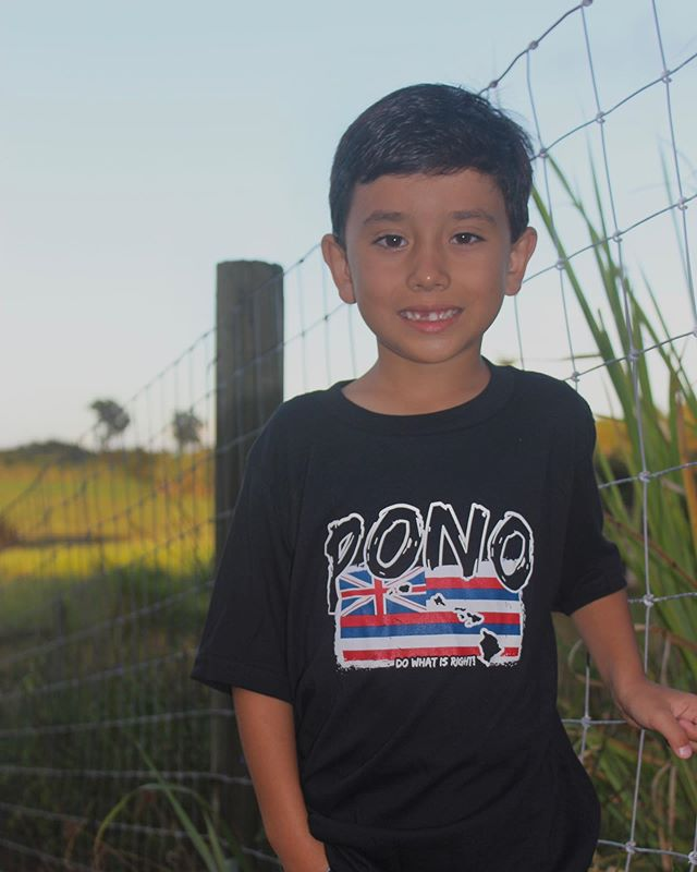 We love our keiki models! • • Stop by at our store next week Friday to snag one of these shirts that this handsome buggah is rockin. Available in Men, Women, Children, and hoodies. Hope to see you there!
