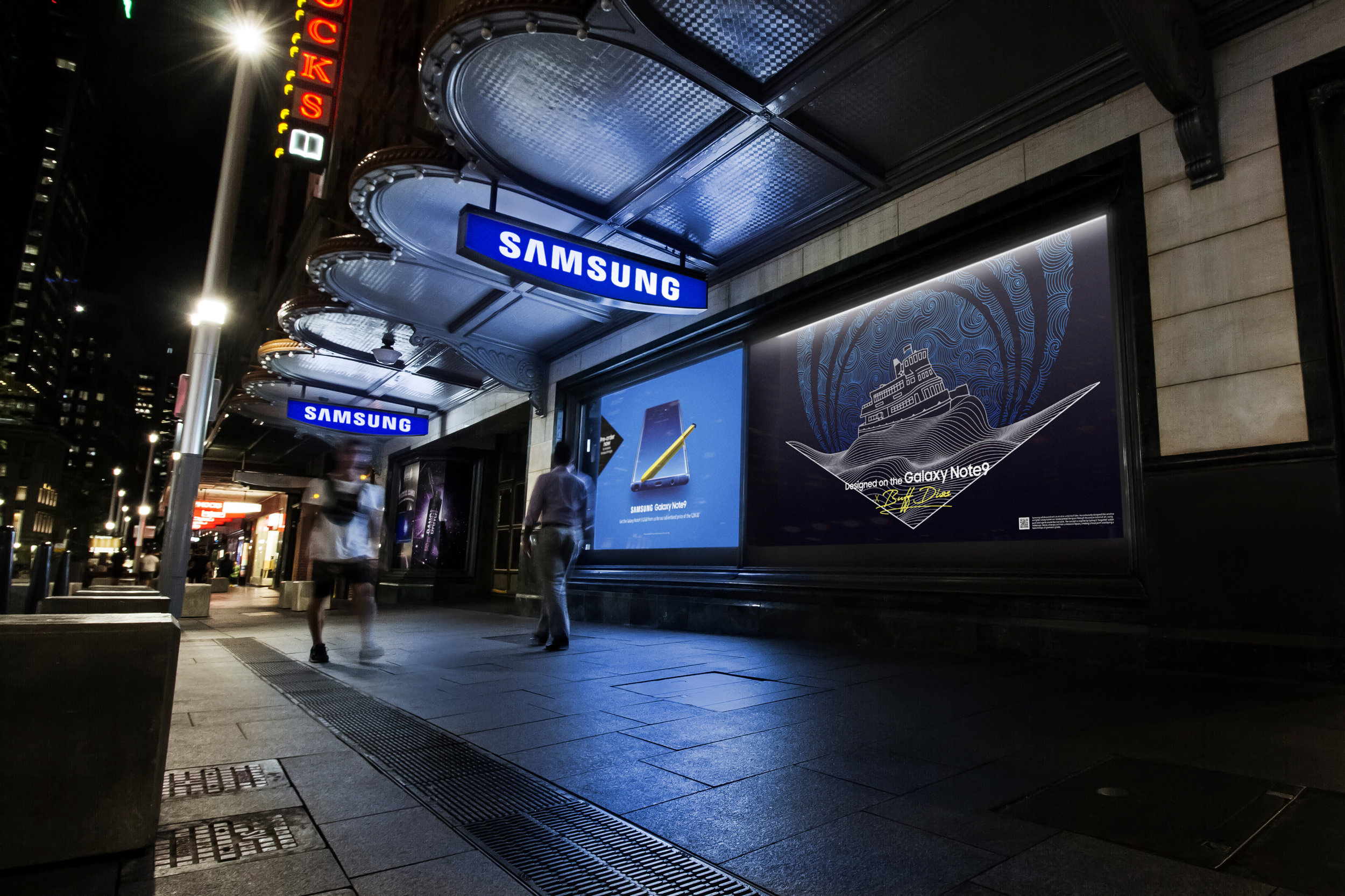 Samsung - George St, Sydney (windows A - B)