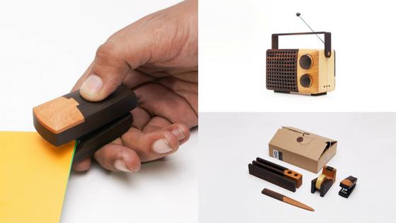 sTapo stapler | iKoNo radio | SeTO stationery set | Photo Credit: Magno Design