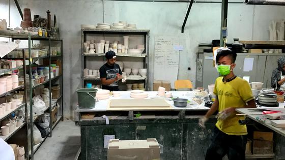 Kandura's Bandung pottery studio