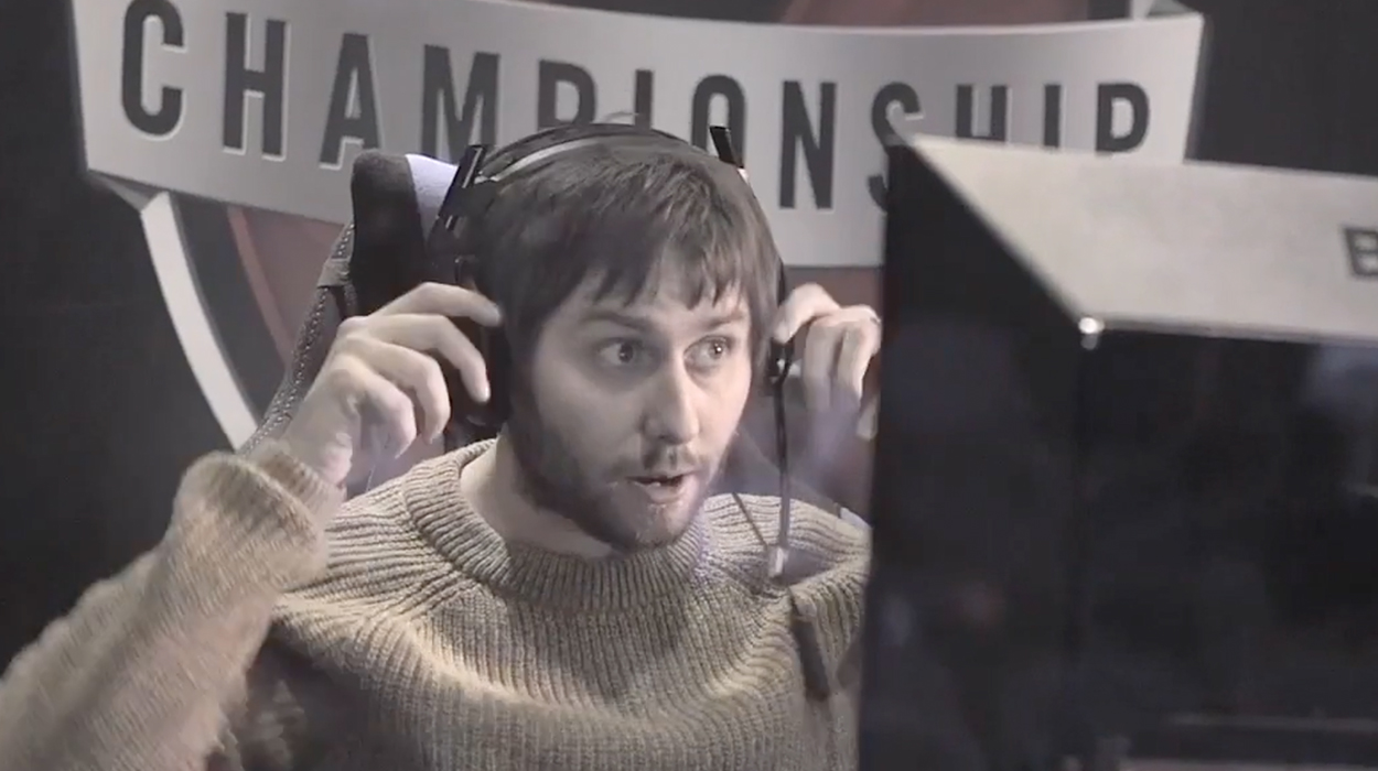 Former Inbetweeners star James had to take on Call of Duty power players at the Gfinity Arena