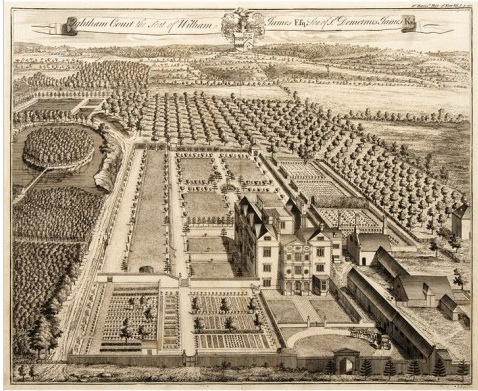 Johannes Kip Engraving 1718 of Ightham Court