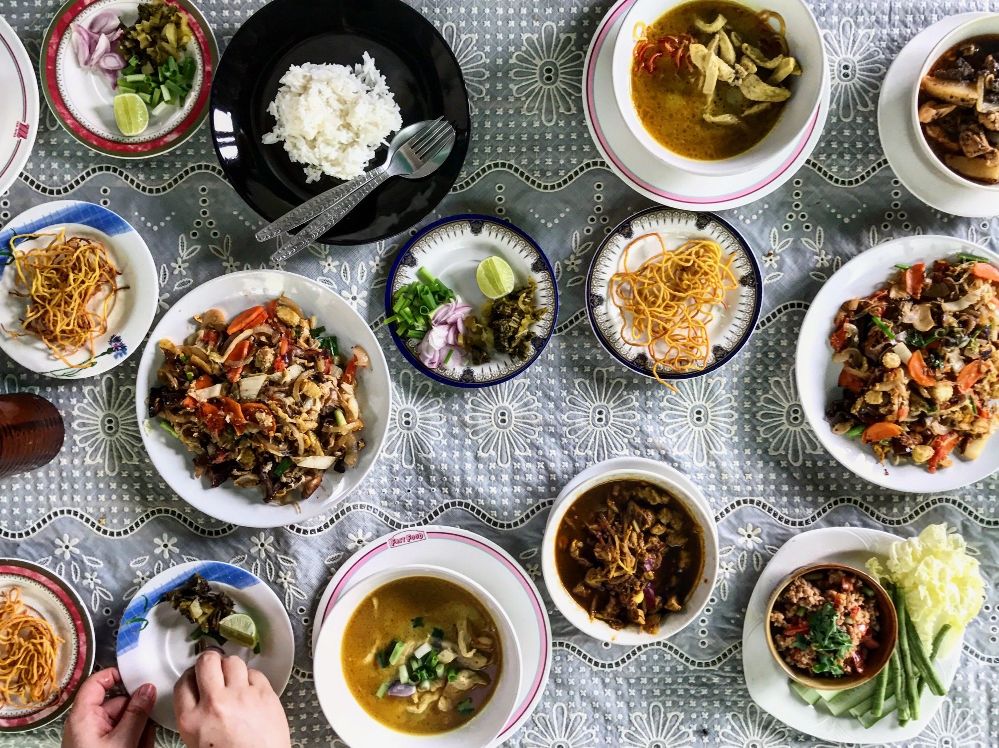 Our spread of Thai fantasies at  Vannee Classic Home Cooking