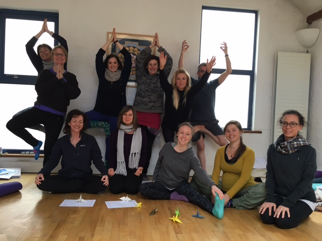 Naomi Hayama's students after completing the British Wheel of Yoga Foundation Course in Bristol