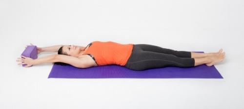 Yoga full stretch pose