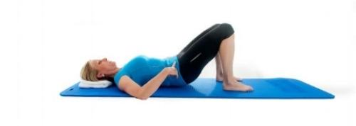 Pelvic tilt yoga pose