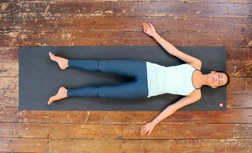 Full relaxation yoga pose