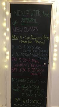 New Yoga & Pilates Classes. Prenatal and Postnatal Pilates starting soon.