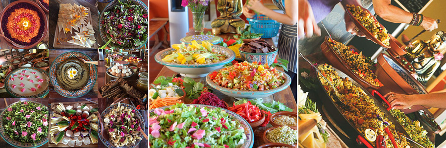 Healthy food at the Yoga Retreat in Spain