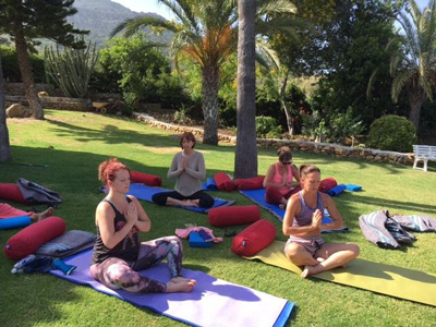 Yoga Class at Retreat in Spain